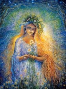 Лада Мать большинства богов. Богиня красоты, любви и бракосочетания.